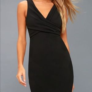 Lulu's Black Bodycon Dress